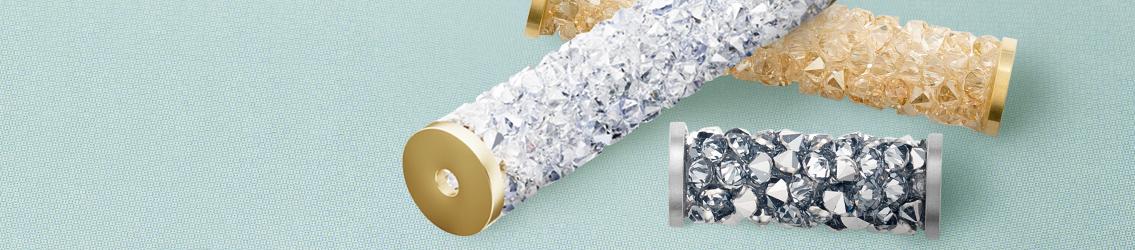 Swarovski crystals Fine Rock Tube Beads